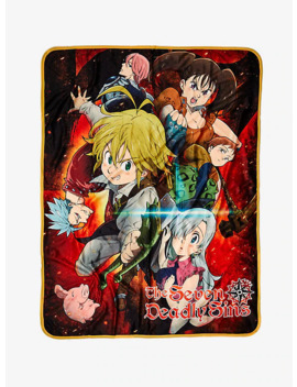 The Seven Deadly Sins Heroes Ready Throw Blanket by Hot Topic
