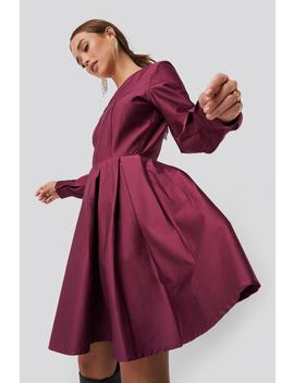 Box Pleat Mini Dress Pink by Na Kd Party