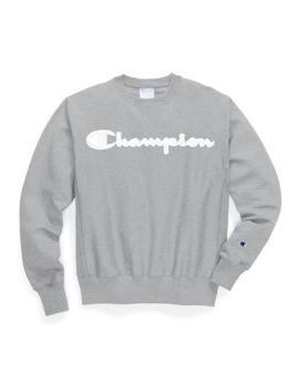 Champion Life® Men's Reverse Weave® Crew, Mesh & Leather Logo by Champion