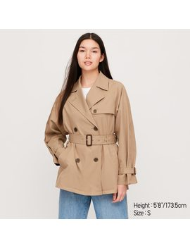 Women Relax Short Trench Coat by Uniqlo