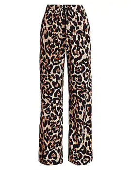 Nu Leopard Print Drawstring Pants by Baum Und Pferdgarten