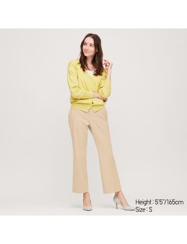 Women Ezy Stretch Flared Ankle Length Trousers by Uniqlo
