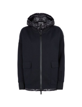 Laqué Lined Zip Up Hoodie by Moncler