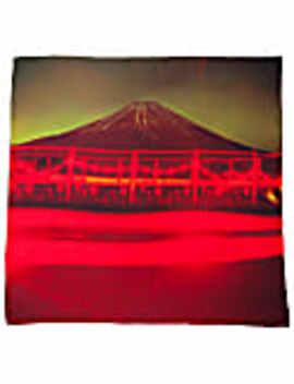 Mt. Fuji Silk Scarf by Plinth