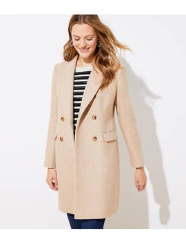 Wool Twill Double Breasted Coat by Loft
