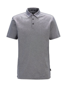 Short Sleeved Polo Shirt In Oxford Cotton With Linen Short Sleeved Polo Shirt In Oxford Cotton With Linen by Boss