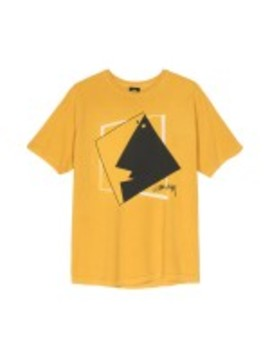 Stüssy Square Face Pig. Dyed Tee (Mustard) by Dover Street Market
