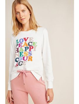 Love Peace Happiness Pullover by Garima Dhawan