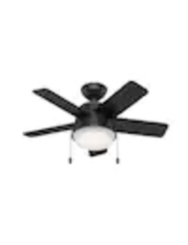 Hunter Mini Led 36 In Matte Black Led Indoor Ceiling Fan With Light Kit (5 Blade) by Lowe's