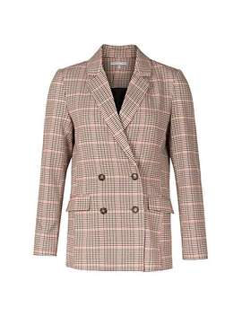 Destiny Checked Brown Blazer by Olivar Bonas