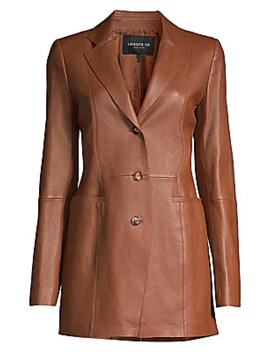 Jaqueline Leather Blazer by Lafayette 148 New York