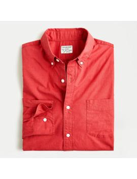 Stretch Secret Wash Shirt In Heathered Organic Cotton by J.Crew