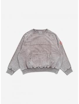 C.E Cav Empt Overdye Double Face Crewneck Sweatshirt   Beige by Cav Empt