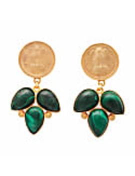 Malachite Coin Earrings by Carousel Jewels