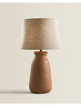 Lamp With Clay Base  Lighting   Living Room by Zara Home