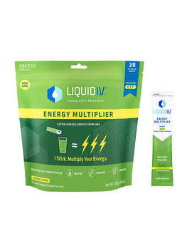 Liquid I.V. Energy Multiplier, 20 Individual Serving Stick Packs In Resealable Pouch by Liquid I.V.