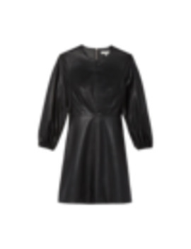 Structured Faux Leather Minidress by Tibi