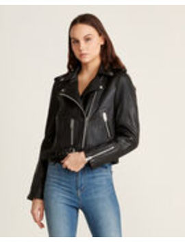 Kelsey Lamb Leather Motorcycle Jacket by Walter Baker