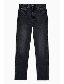 Tall Black Raw Hem Straight Leg Jeans by Topshop