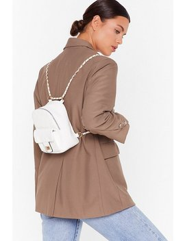 Want No Quilt Faux Leather Backpack by Nasty Gal