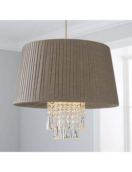 Allure Grey Pendant by Dunelm