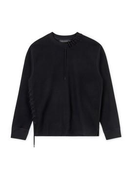 Craig Green Laced Sweatshirt (Black) by Dover Street Market