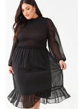 Plus Size Ruffle Trim Dress by Forever 21