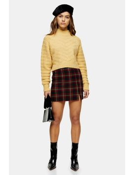 Petite Red Tartan Check Mini Skirt by Topshop