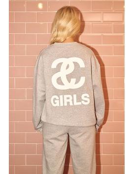 Grey Sc Girl Oversized Sweatshirt by I Saw It First