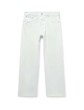 Distressed Bleached Denim Jeans by Maison Margiela