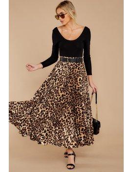 Rule Breaker Leopard Print Midi Skirt by In Loom