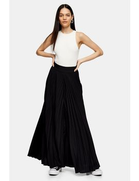 **Black Pleated Trousers By Topshop Boutique by Topshop