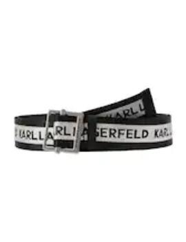 Logo Webbing Belt   Belt by Karl Lagerfeld