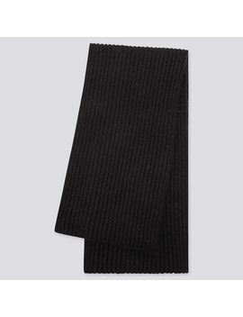 Women SoufflÉ Knit Yarn Scarf by Uniqlo