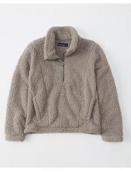 Half Zip Sherpa Fleece Sweatshirt by Abercrombie & Fitch