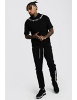 3 D Man Official Drop Shoulder Hooded Tracksuit by Boohoo Man