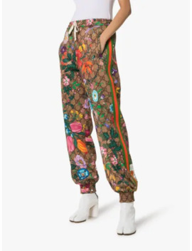 Floral Monogram Print Track Pants by Gucci