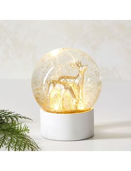 Brass Deer Snowglobe by West Elm