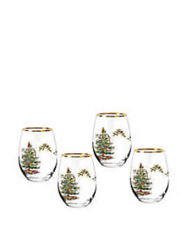 Stemless Wine Glasses Set Of 4  16 Ounces by Spode
