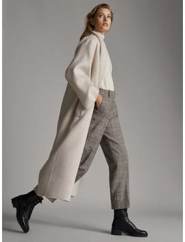 Spodnie Cygaretki W KratkĘ by Massimo Dutti