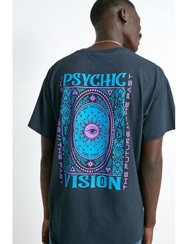 Uo Vision Washed Black T Shirt by Urban Outfitters