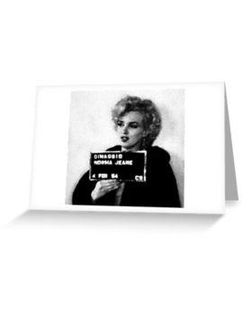 Norma Jean Dimaggio Mugshot Mug Halftone Fan Art Postcard by Redbubble