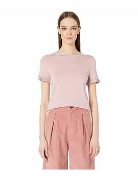 Ruffle Short Sleeve Sweater by Kate Spade New York