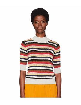 Lurex Stripes 3/4 Sleeve Sweater by Sonia Rykiel