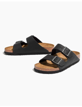 Birkenstock® Arizona Sandals In Black Leather by Madewell