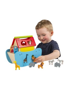 Squirrel Play Wooden Noah's Ark by Smyths