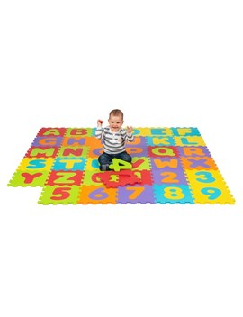 Big Steps Play Alphabet & Number Puzzle Foam Mat by Smyths