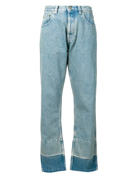Jeans With Faces Embroidery by Loewe