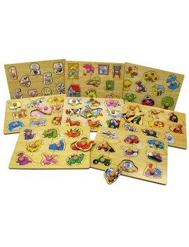 Wooden Easy Grab Puzzles by Smyths