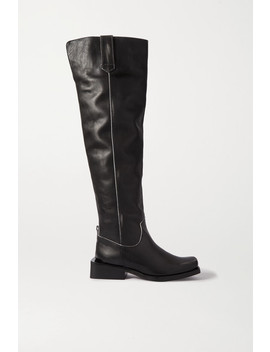 Mc Leather Over The Knee Boots by Ganni